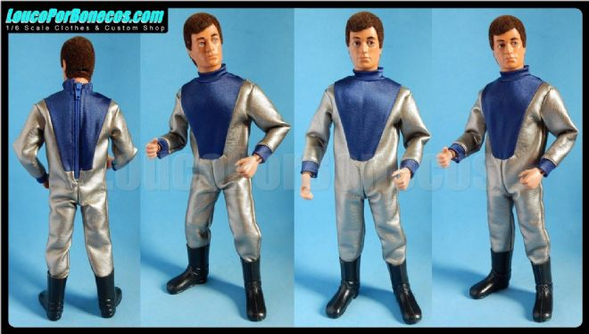 LoucoPorBonecos - FALCON - SILVER INVADER FROM THE FUTURE for Action Man, Gi Joe Etc